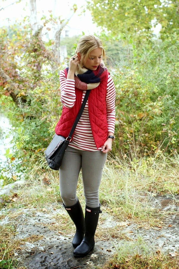 how to style black hunter boots for fall and winter