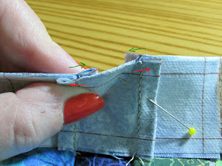 nesting quiltng seams