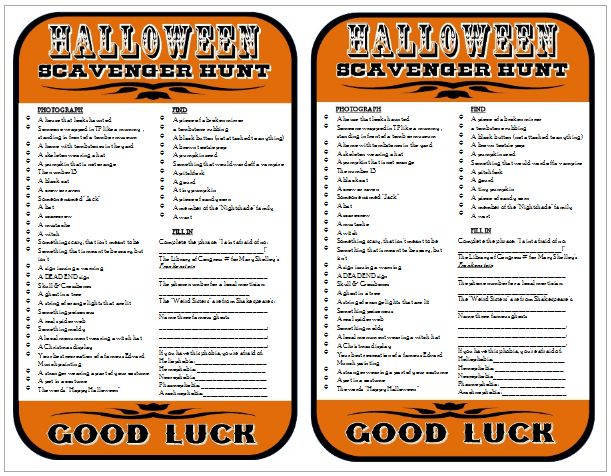 Jennuine by Rook No. 17*: How to Host a Halloween Scavenger Hunt Party