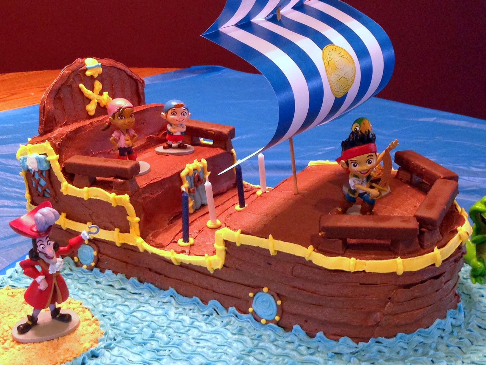 COBO Bucky The Pirate Ship Cake Jake And Neverland Pirates Birthday Party