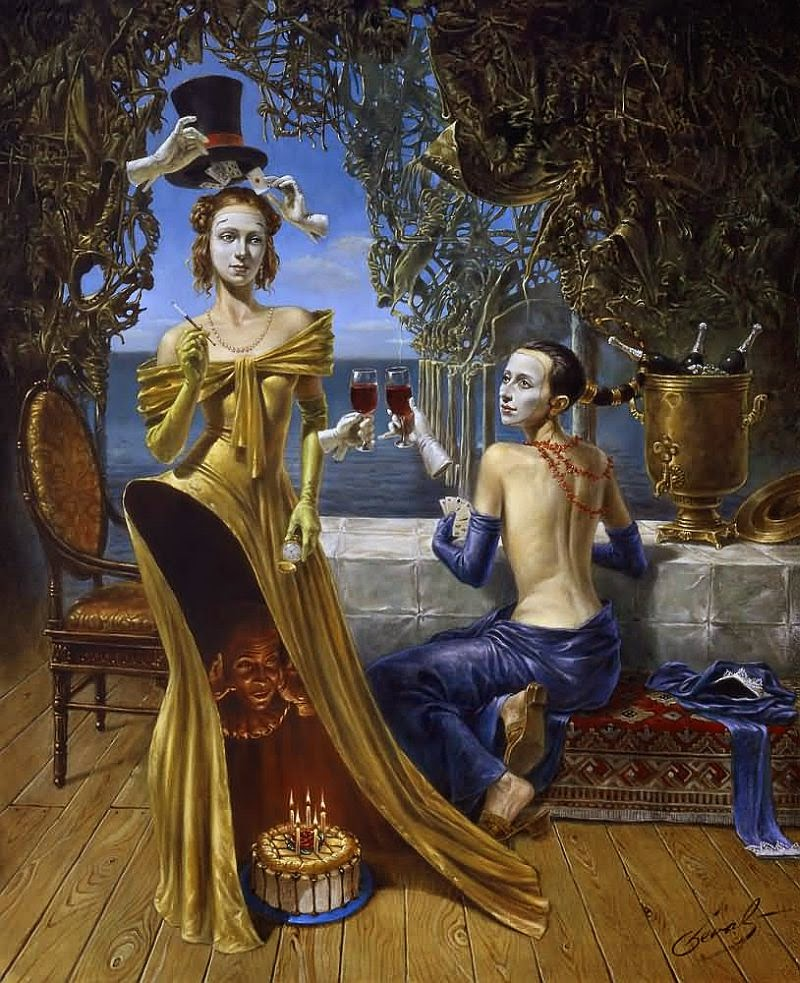 13-Michael-Cheval-Magician-Birthday-Surreal-Absurdist-Paintings-www-designstack-co