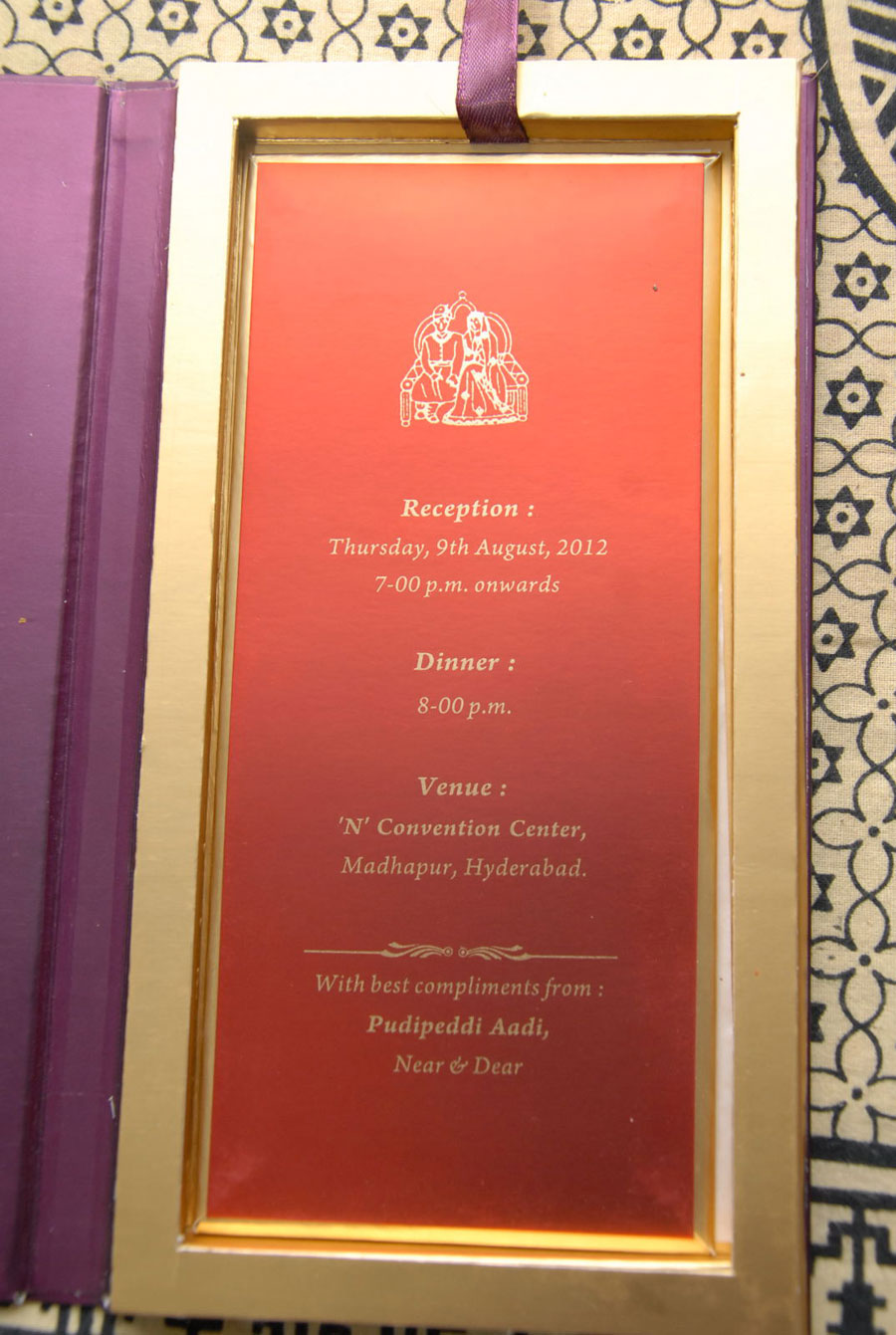 Sai Kumar Daughters Wedding Invitation Card