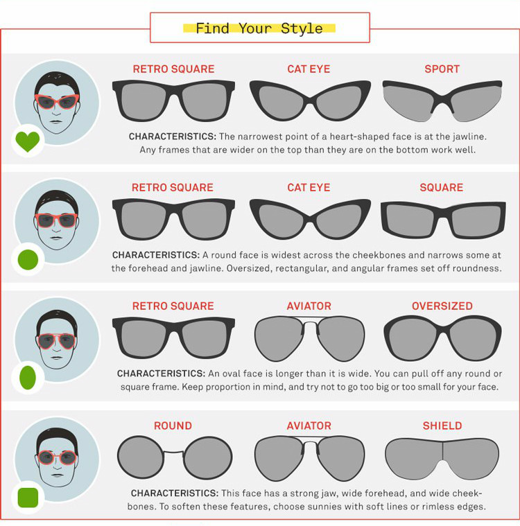 Best Eyeglass Frame Shape For Square Face : The best sunglasses for your face ~ Cosettes Beauty Pantry