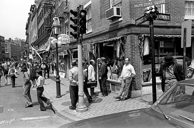 Great black and white pictures were taken at the 1970 charles street