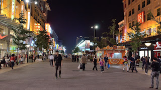 Wangfujing street at night