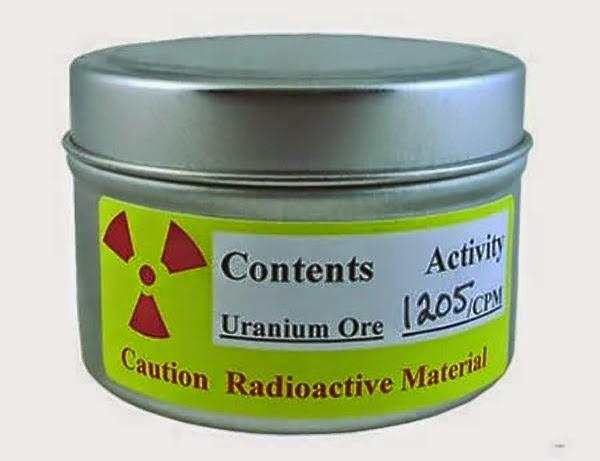radioactive uranium