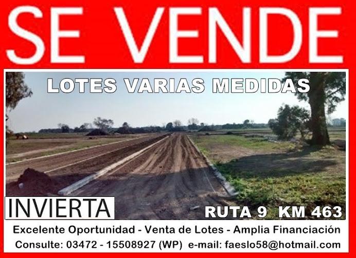 ESPACIO PUBLICITARIO: VENTA DE LOTES