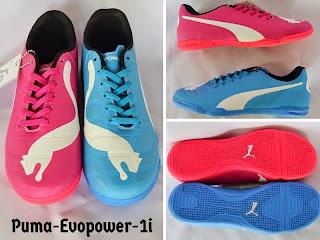 sepatu futsal puma pink biru murah