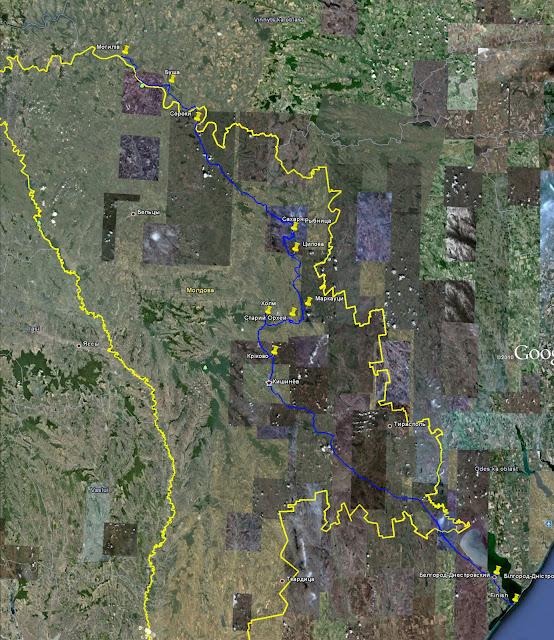 Велопохід по Молдові 2011 Map