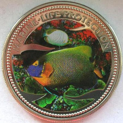 Palau coins Marine Life Fish Tropical Reef
