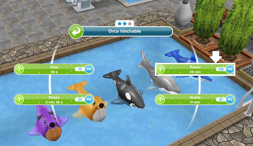 Los sims freeplay fan soluciones dar un paseo en la for Colchonetas piscina