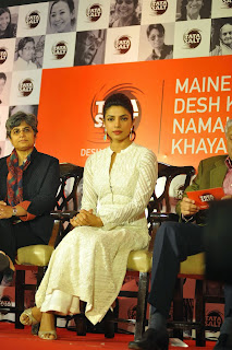 Priyanka Chopra Looks Gorgeous In White Dress At Tata Salt And Mary Kom Tie Up Event In Mumbai