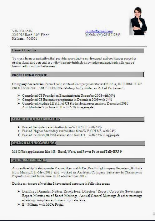 Resume Formats Samples | Resume Format And Resume Maker