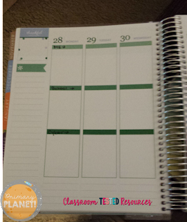 Life Planner inside layout