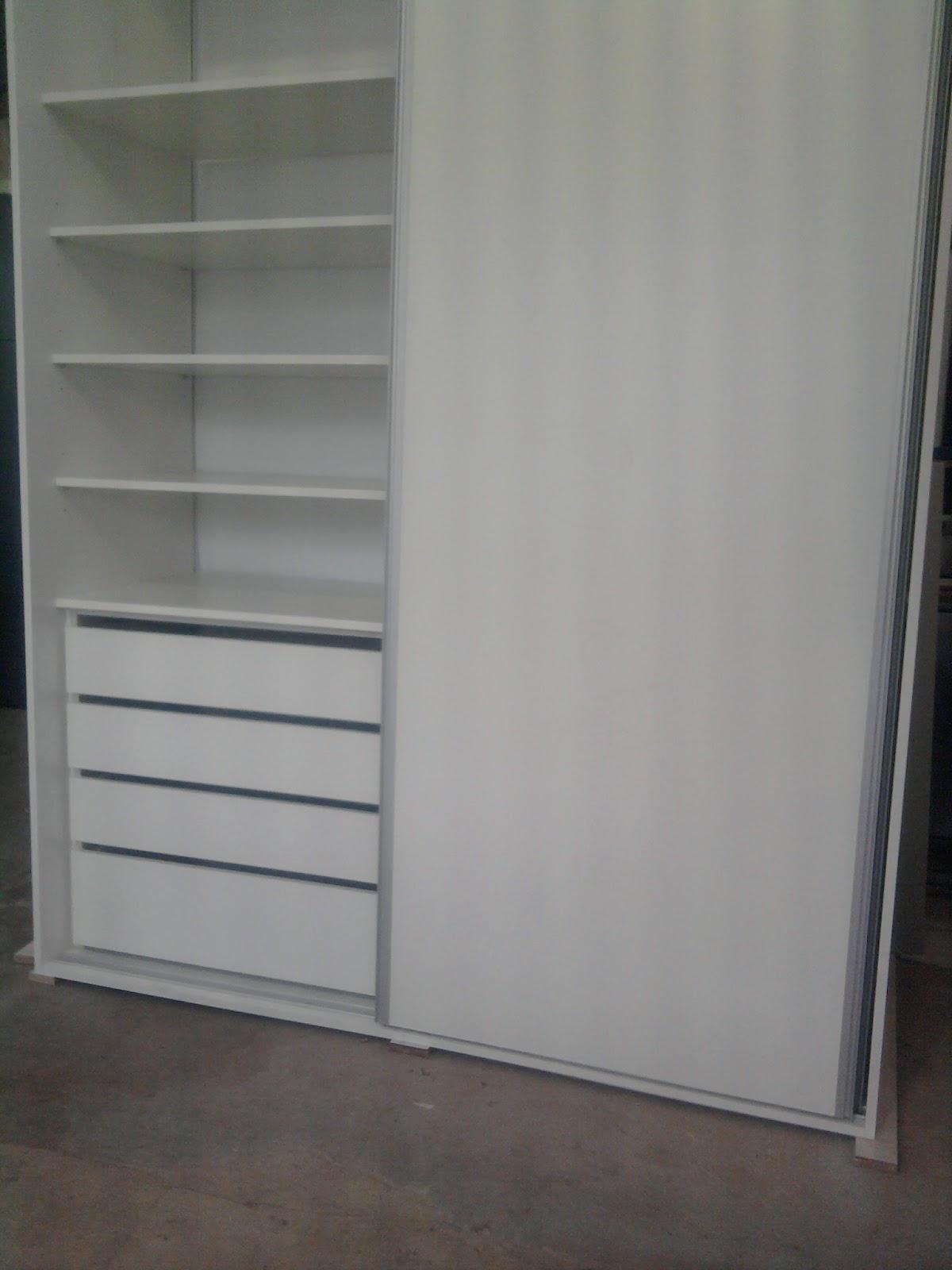 R a ch mobiliario para oficinas mueble melamina blanca - Muebles con puertas corredizas ...
