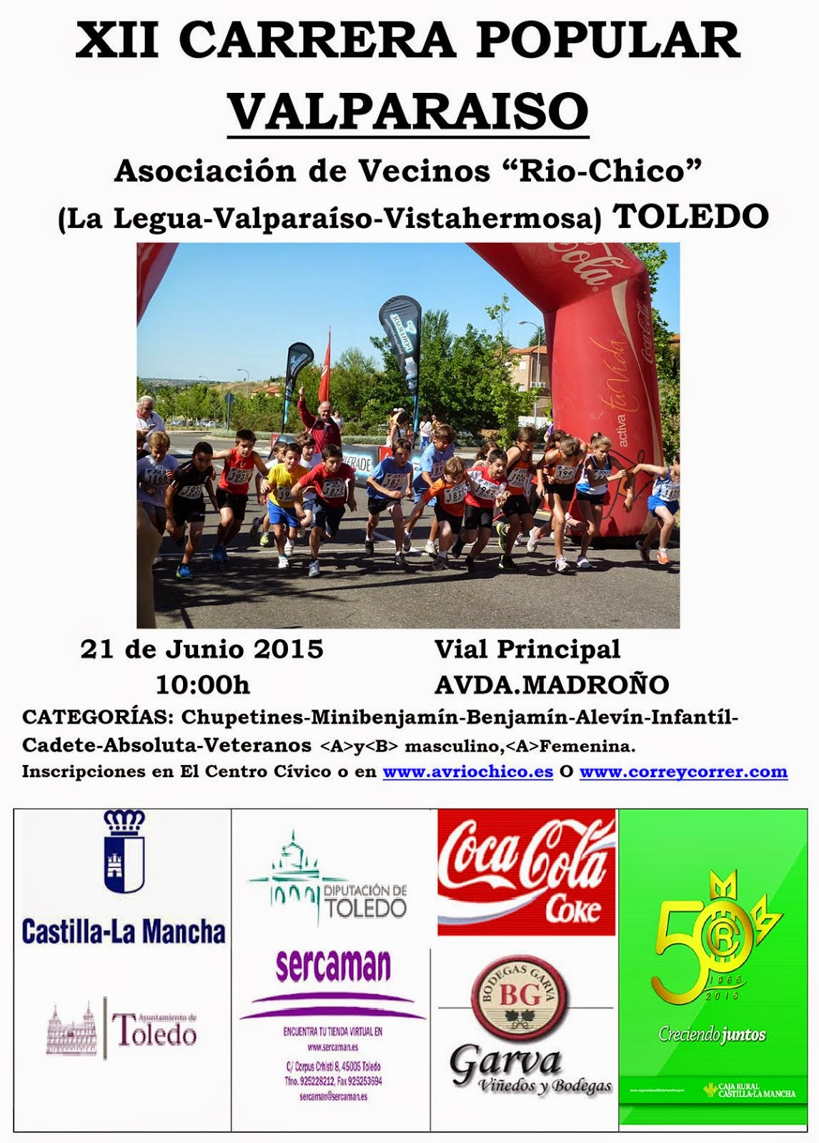 XII Carrera Popular de Valparaíso en Toledo