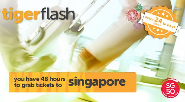 Tigerair 虎航【週快閃四】今次有香港飛新加坡,來回機位HK$652起(連稅HK$1,025),只限48小時。