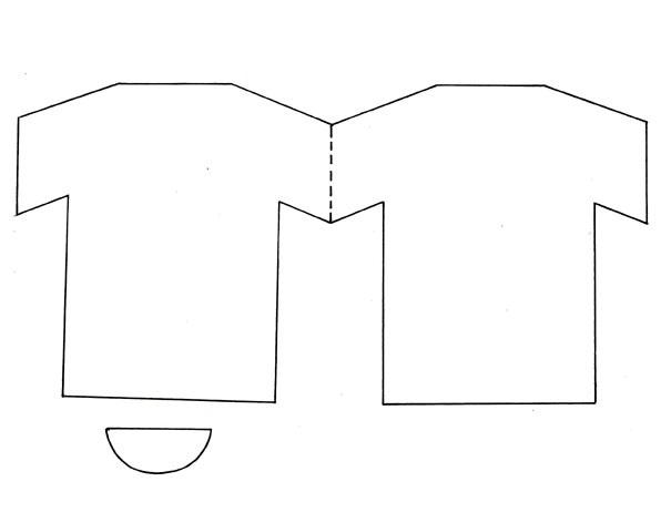 Moldes de camisas para colorear - Imagui