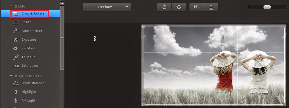 editar fotos online no photoshop express editor cortar foto