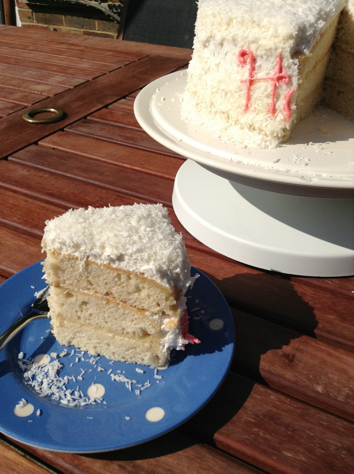 Coconut Meringue Cake Hummingbird