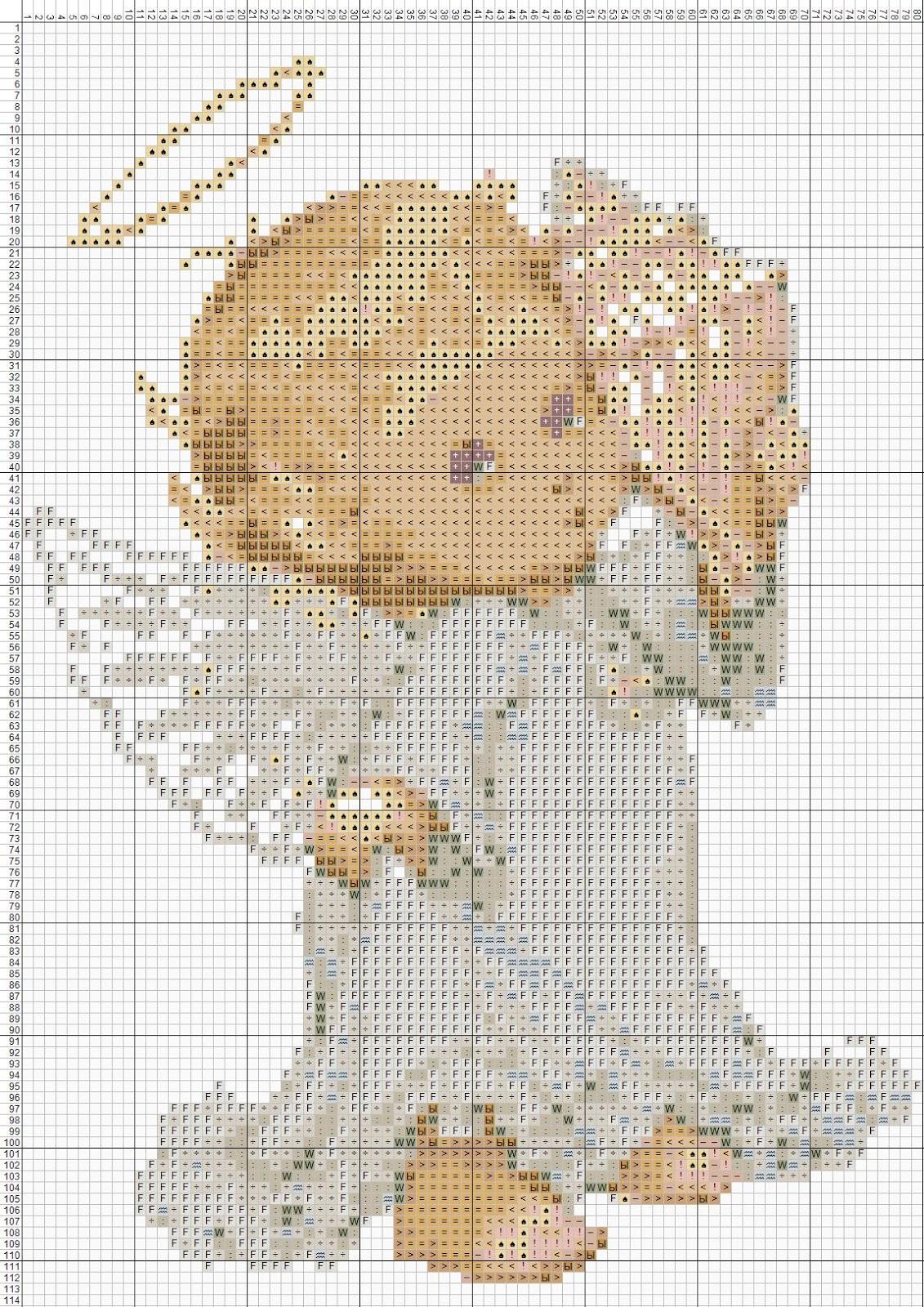 Схема вышивки крестом: ангелы скачать бесплатно Надо 45