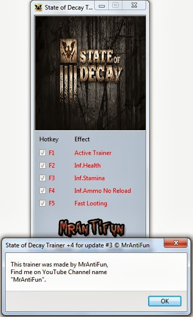 State of Decay Trainer  +4 for Game Update #3 MrAntiFun