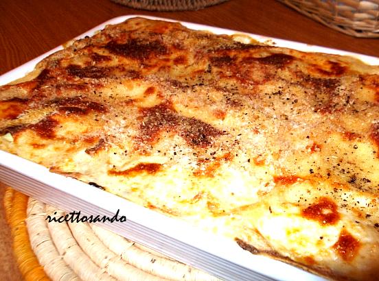 Lasagne vegetariane con patate e biete