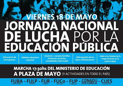 Jornada Nacional de Lucha por la Educación Pública