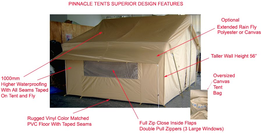 Happy campers pinnacle tents for Canvas tent plans
