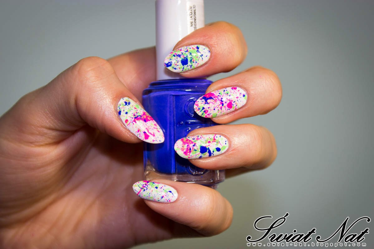 seche vite nailart nails allepaznokcie white blue neon
