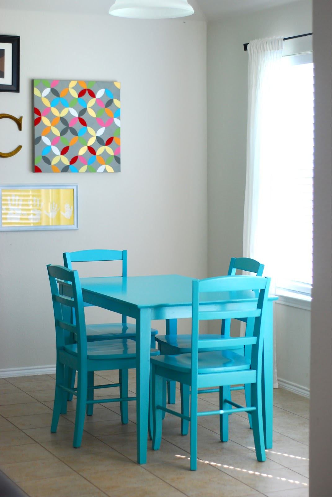 better than i could have imagined: our kitchen table makeover...