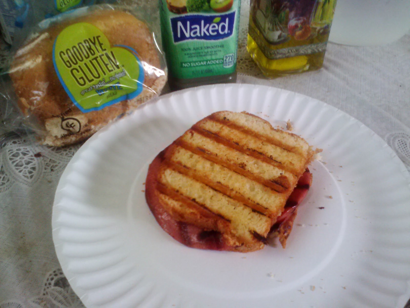 Gluten Free Sandwich with GoodBye Gluten Bread