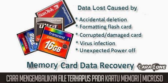 Cara Mengembalikan File Terhapus pada Kartu Memori | MICROSD