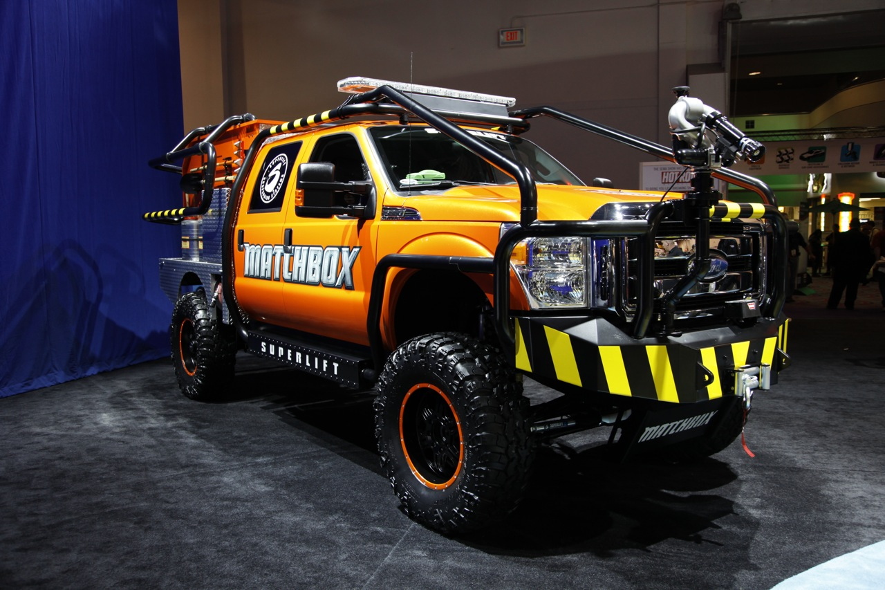 SEMA 2011: Ford F-350 Super Duty Superlift Matchbox for all a toy for