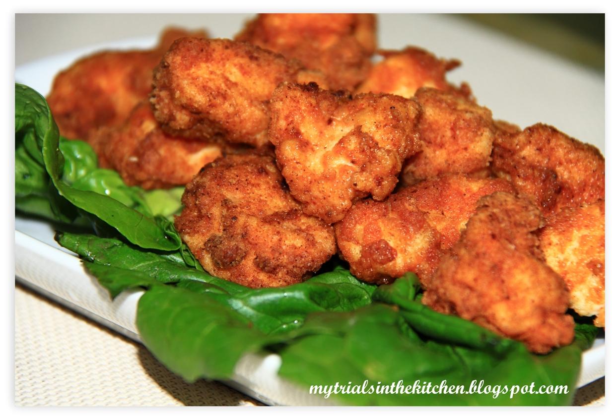 My Trials in the Kitchen: Hot & Spicy Popcorn Chicken #SundaySupper