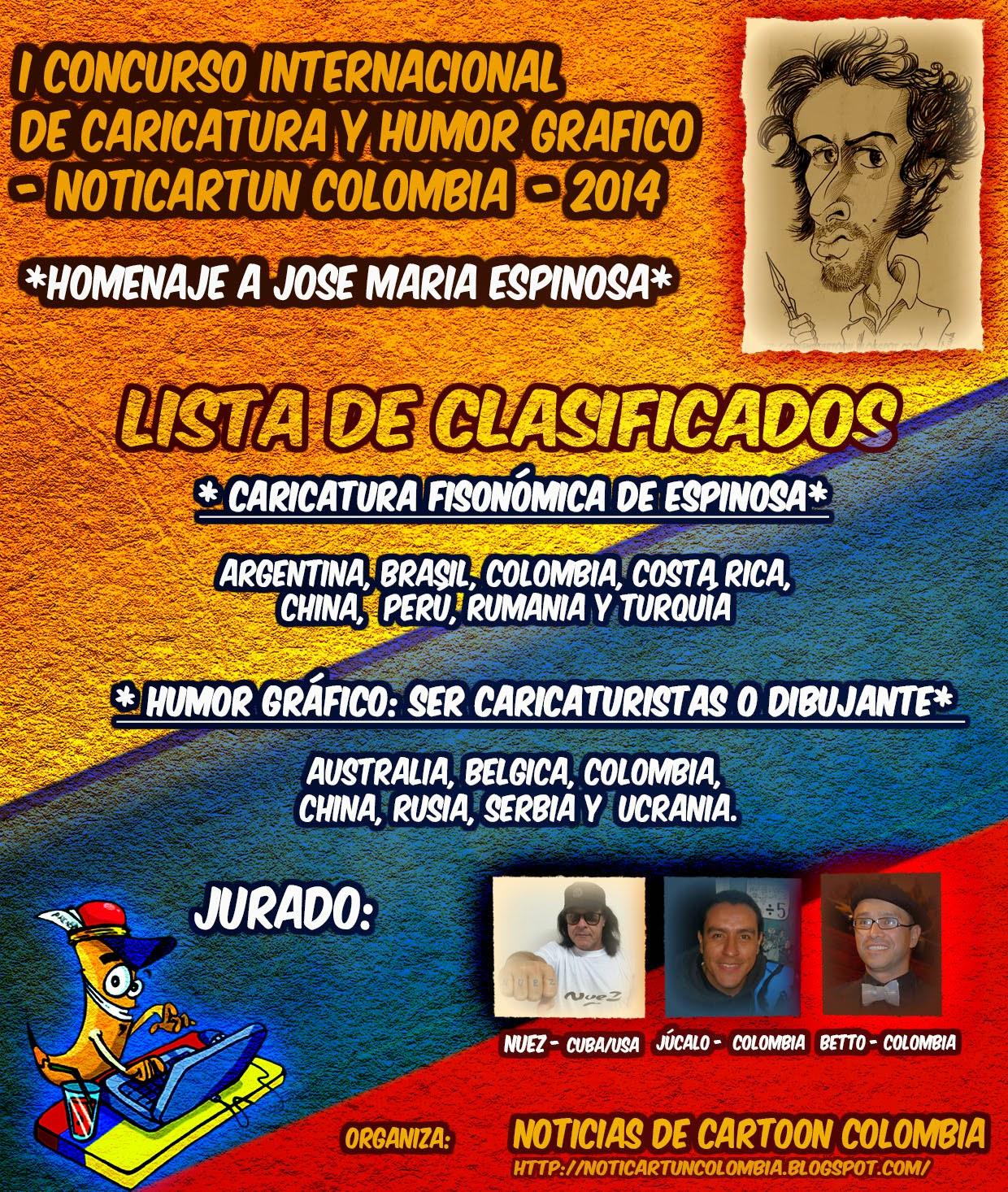 LISTA DE CLASIFICADOS PARA PREMIO