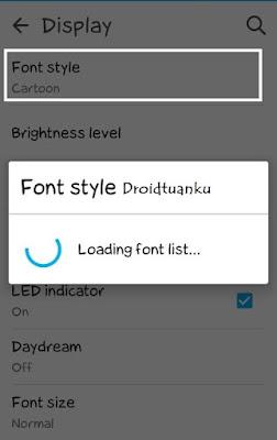 Loading Font Asus Zenfone