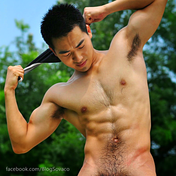 Hairy Asian Man's Armpits