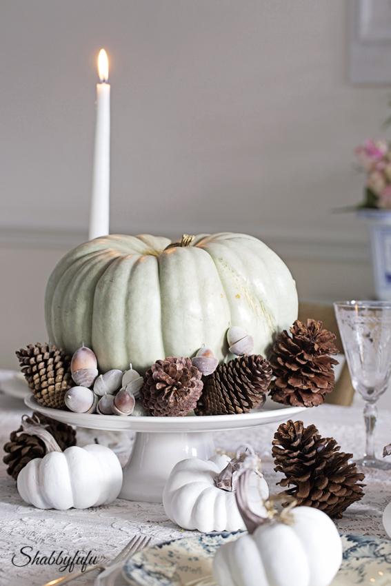 elegant romantic pastel thanksgiving table Styling A