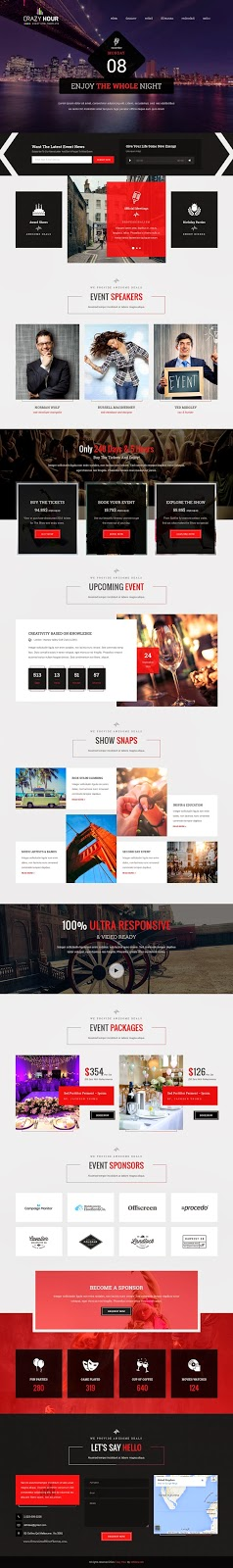Responsive Event Management HTML Template