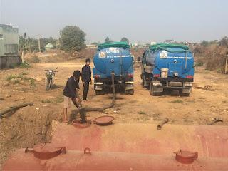 Quy trình xử lý nước bẩn độc hại từ cống ngầm.