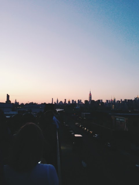 View from Output. Williamsburg NYC. Perfect Sunset.