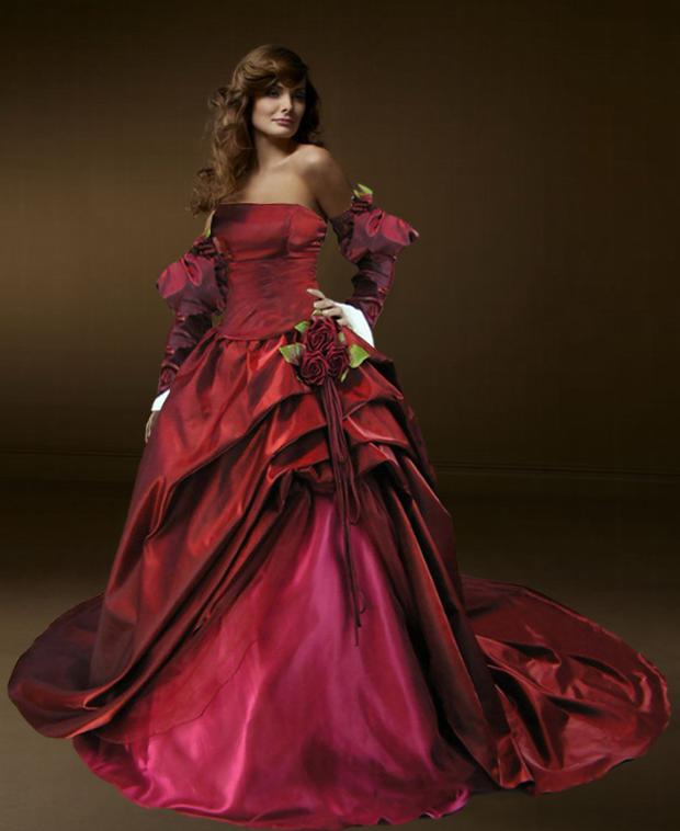 which included clothing makeup music and art best gothic wedding gown