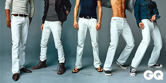 White Jeans For Men: October 2013
