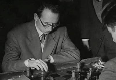 Partida Jesús María Díez del Corral vs. Darga en el  II Torneo Internacional de Ajedrez Madrid 1957