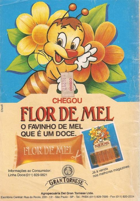 Propaganda do Melzinho Flor de Mel de 1992.