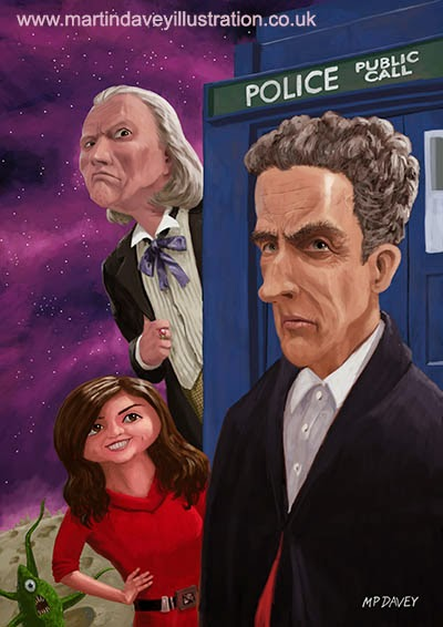 The Twelfth Doctor Who Hartnell Capaldi digital painting