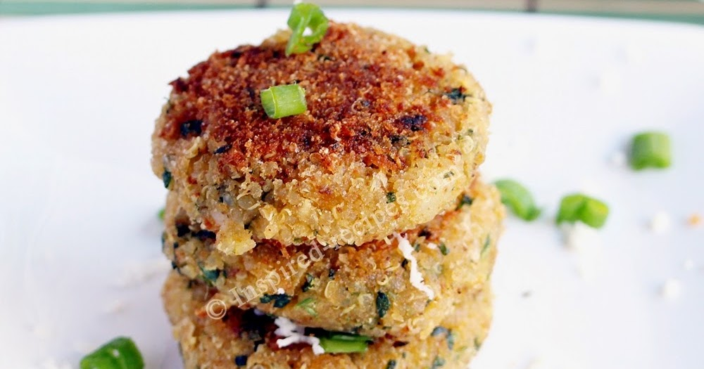 Quinoa Patties With Spinach Chickpeas And Cottage Cheese