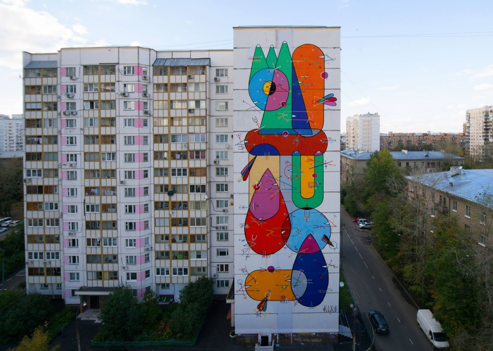 sixe paredes new mural for lgz festival in moscow russia. Black Bedroom Furniture Sets. Home Design Ideas