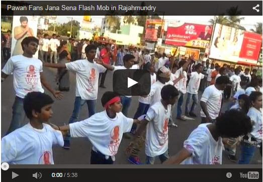 Pawan Fans Jana Sena Flash Mob in Rajahmundry